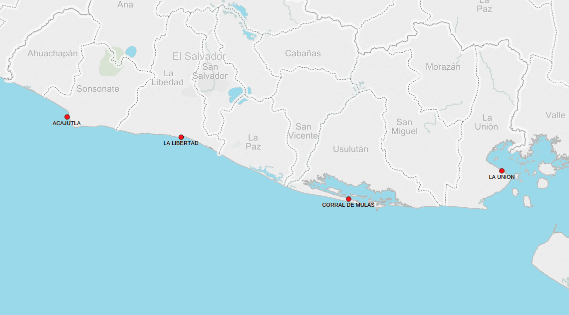 PORTS IN EL SALVADOR