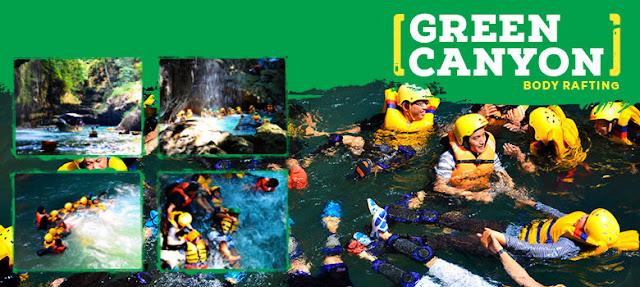 paket wisata body rafting green canyon