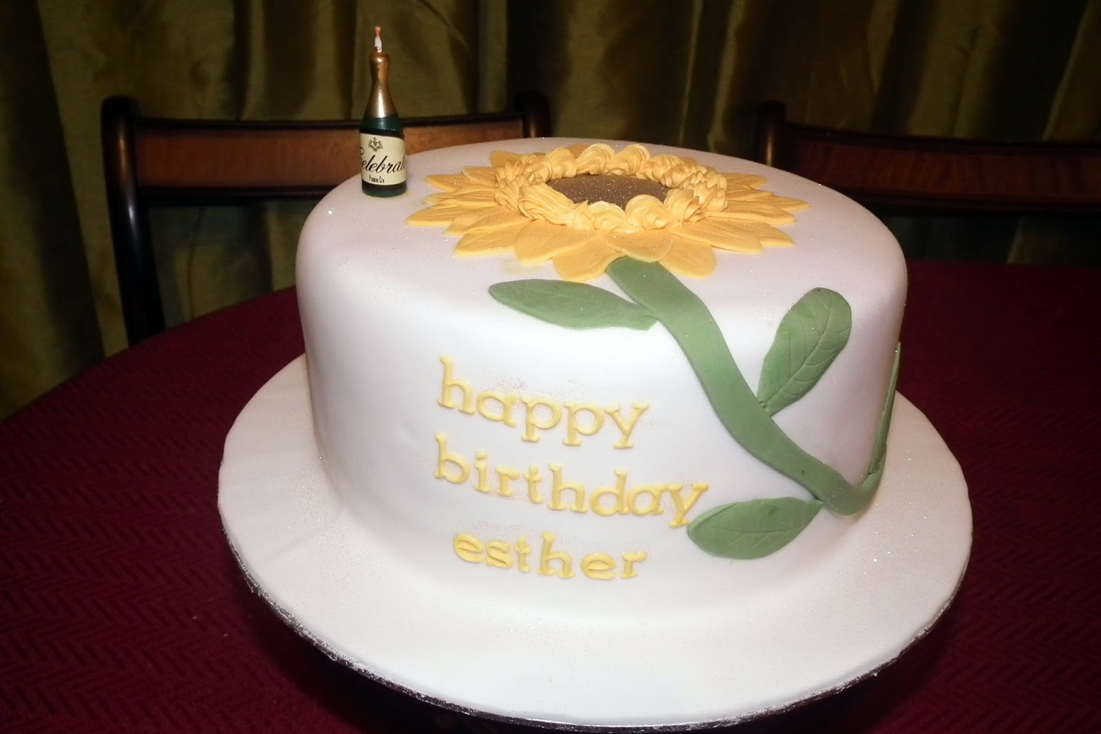 Double D Delights Sunflower Birthday Cake
