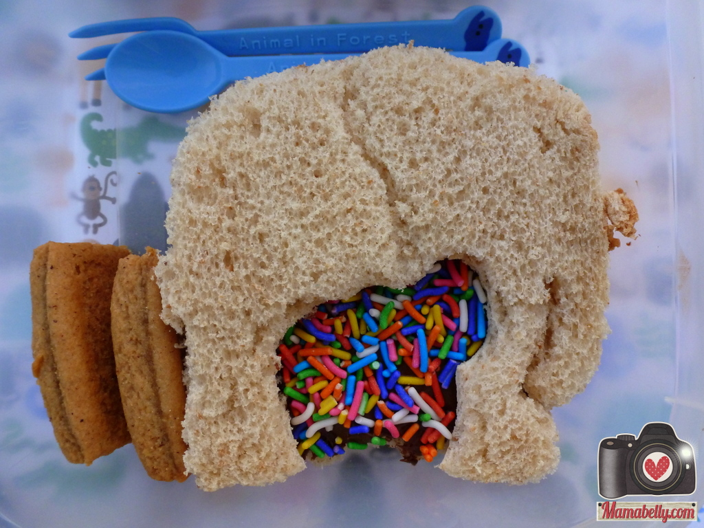 I Also Packed An Elephant Lunch Punch Sandwich Again With Apple Sauce Home Made Banana Bread And Organic Vanilla Yogurt Bar This Time The Sprinkles Are