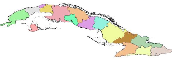 el mapa de cuba
