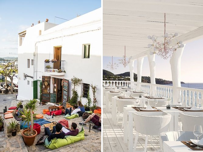 ibiza chill white restaurant cafe