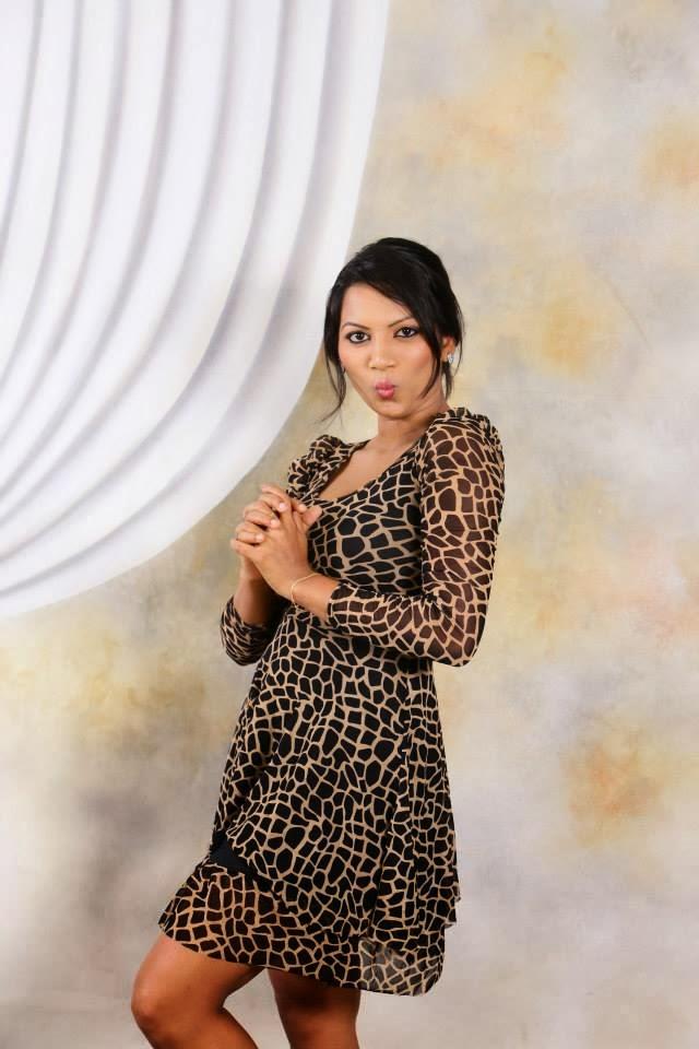 Sithumini Perera short dress