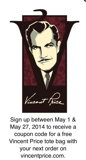 The sound of vincent price may 2014 free vincent price tote bag offer fandeluxe Images