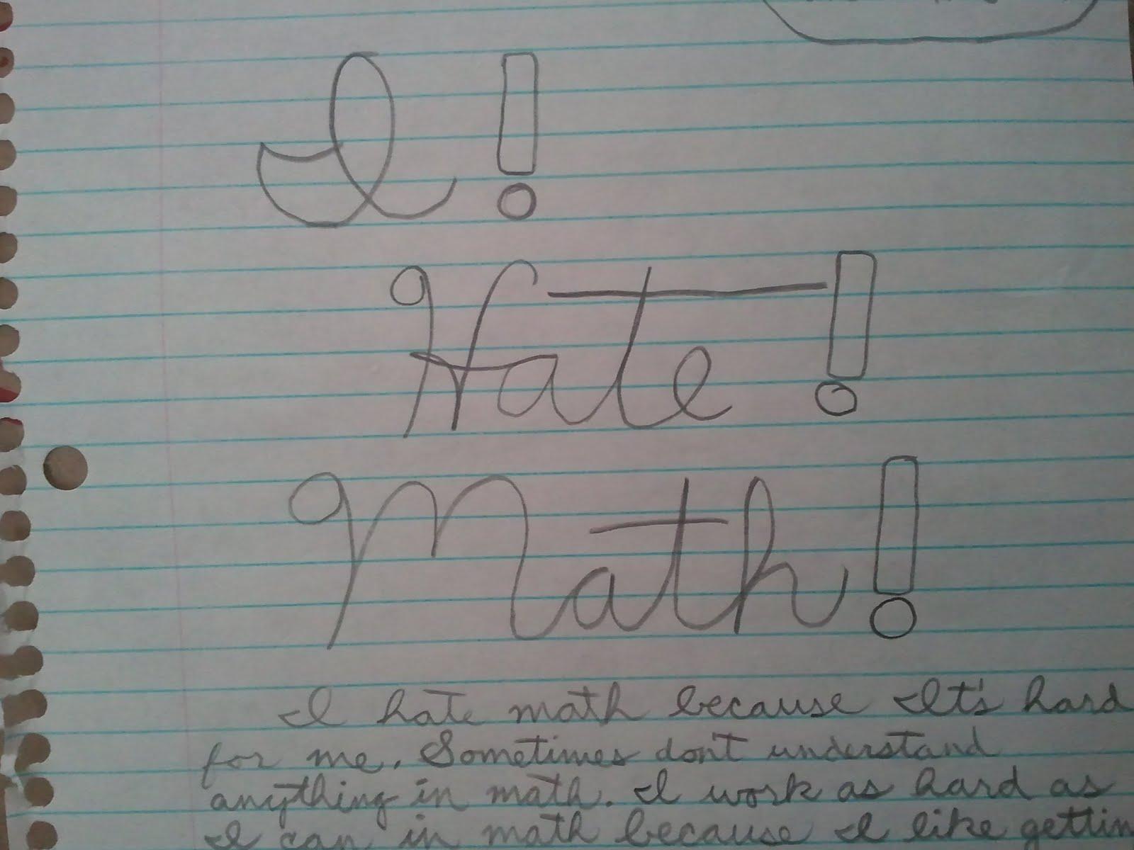 Riedlteach Blogspot Com I Hate Math