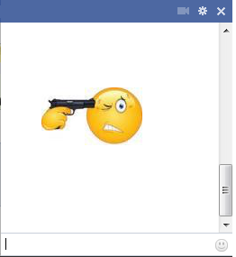 Emoticon Gun to Head http://chaticons.blogspot.com/2013/02/holding-gun-to-his-head.html