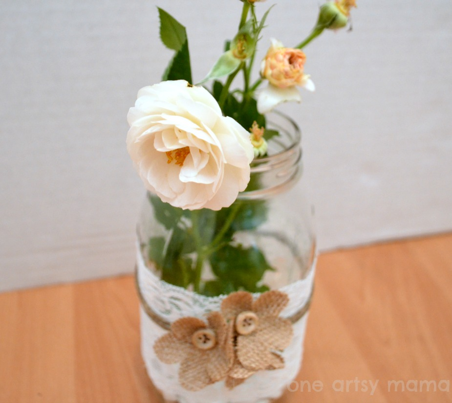 25 mason jar crafts happy hour projects for Creative things to put in vases