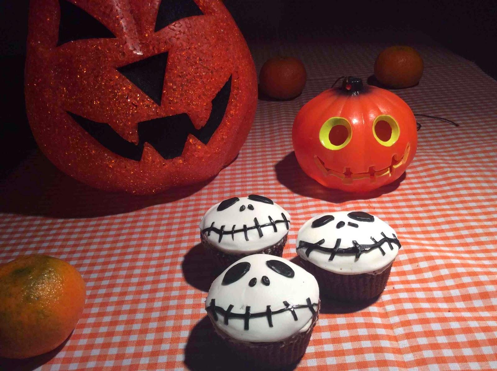 Sugerencia de presentación Cupcakes de Halloween