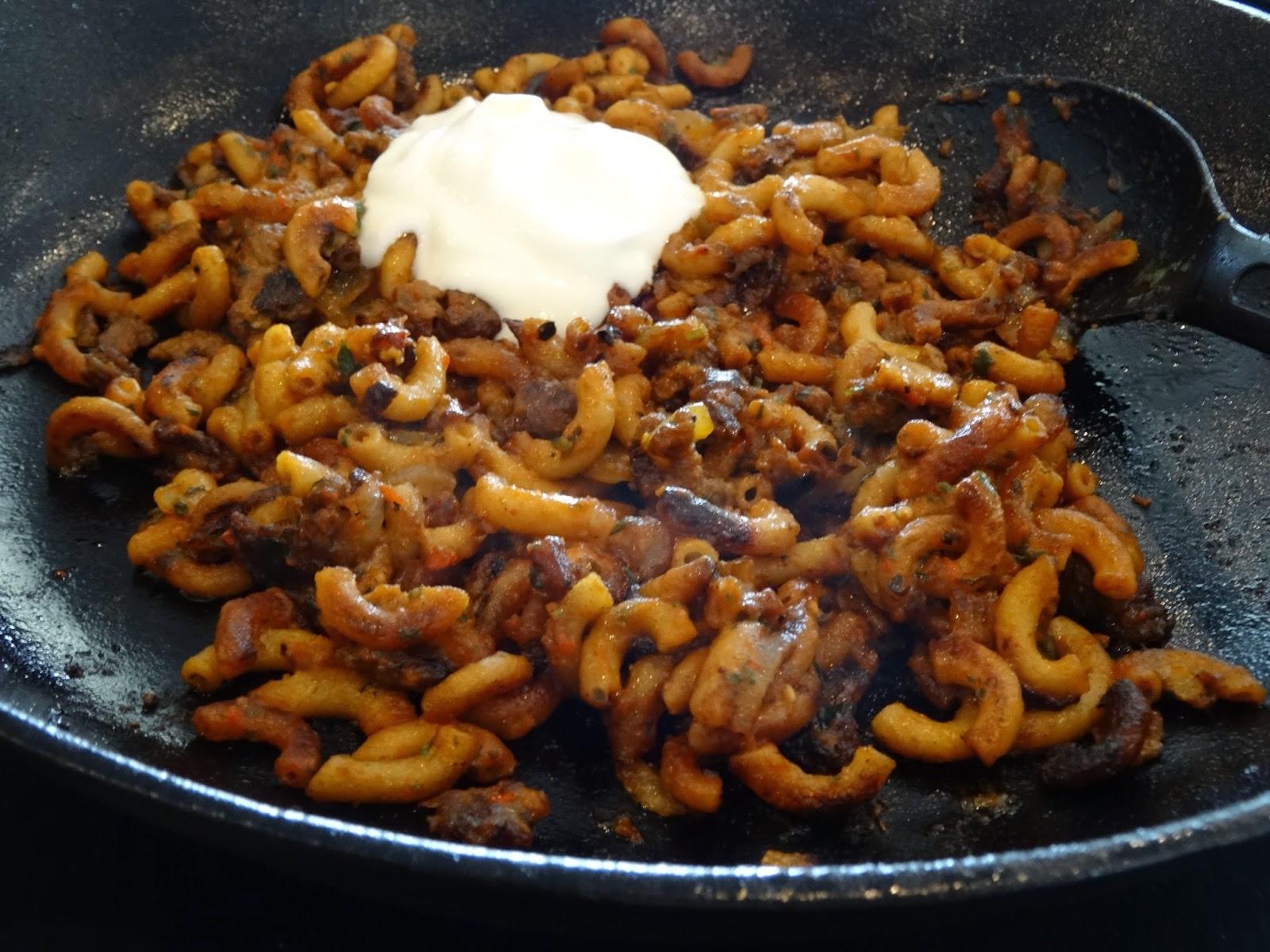 spaghetti med oksekød
