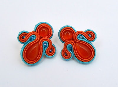 sutasz kolczyki  soutache earrings 25