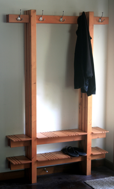 coat, hat and shoe rack,