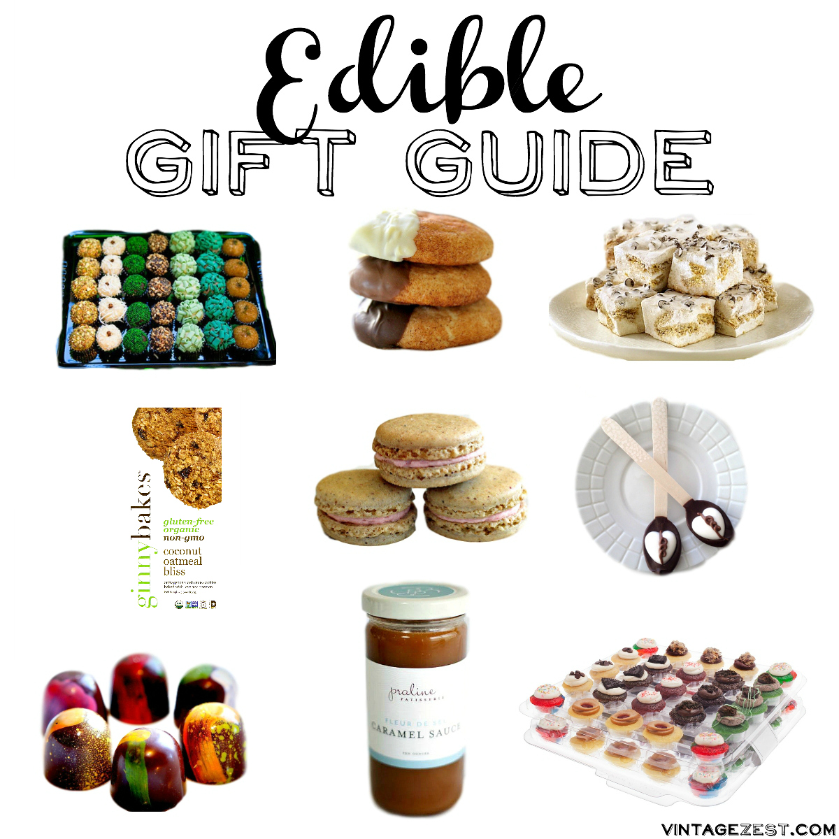 Edible Gift Guide on Diane's Vintage Zest!  #shopsmall #food #gifts #presents #holiday #giftguide