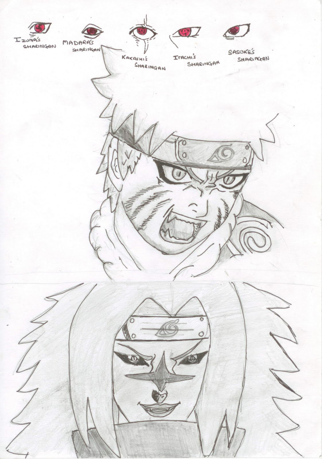 Naruto vs Sasuke Drawings