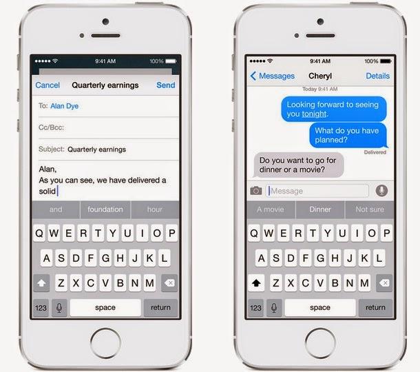 Apple iOS 8 - New Keyboard