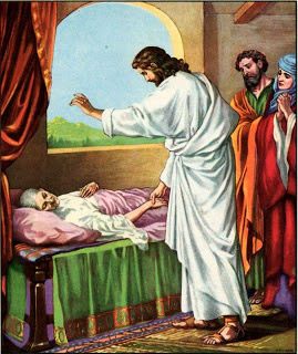 Jesus healing Peter's mother in law
