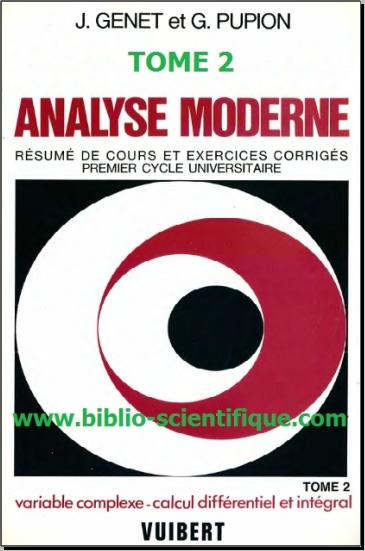 Livre : Analyse moderne Tome 2 - intégration, calcul différentiel, équations aux dérivées partielles