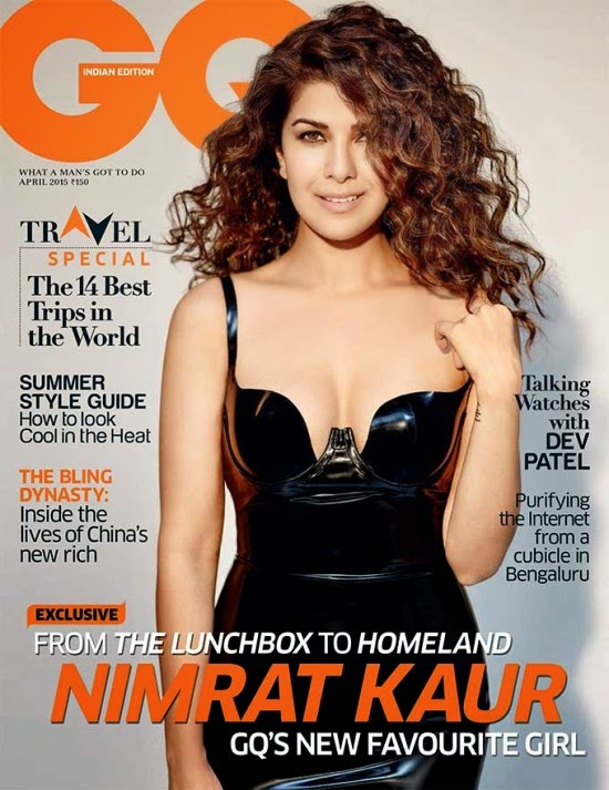 Nimrat Kaur On The Cover Of GQ Magazine India April 2015