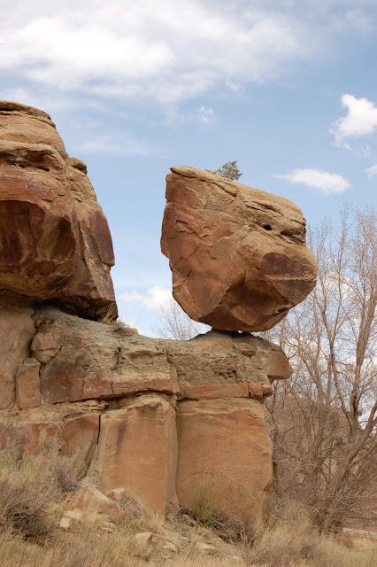 Balancing Rock in Nine Mile Canyon Utah