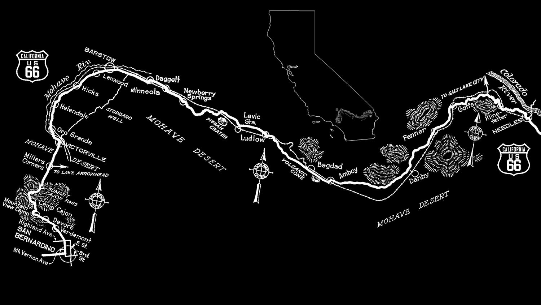 Desert Waysides Burton Frashers California Route - Map us highway route 66