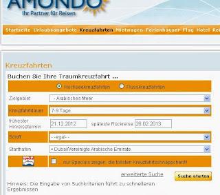 Auswahl der passenden Kreuzfahrt im Reise-Portal
