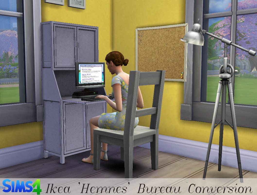 ts4 ikea hemnes bureau history lover 39 s sims blog. Black Bedroom Furniture Sets. Home Design Ideas