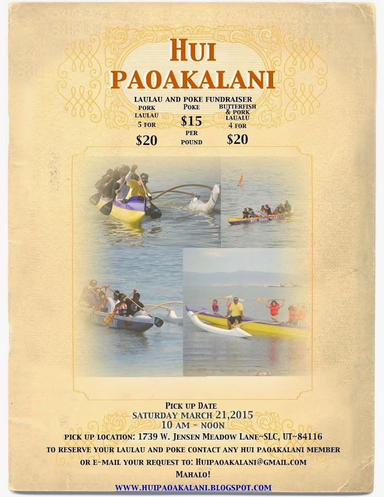 Hui Paoakalani Fall Fundraiser
