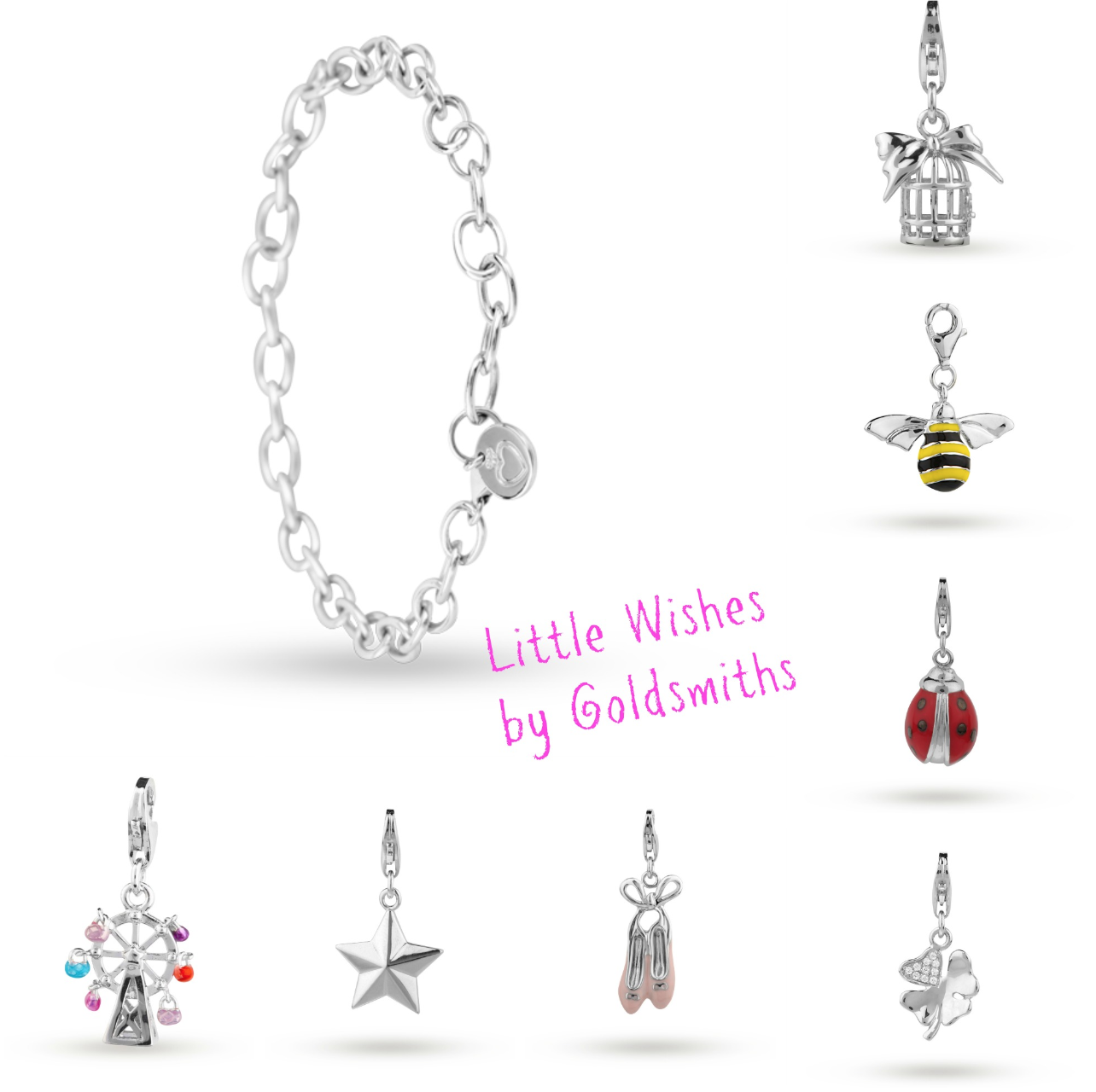 Little gils new jewellery for children first birthday gift ideas - Mamasvib V I Brand The New Little Wishes By Goldsmiths Jewellery Collection For Little Girls