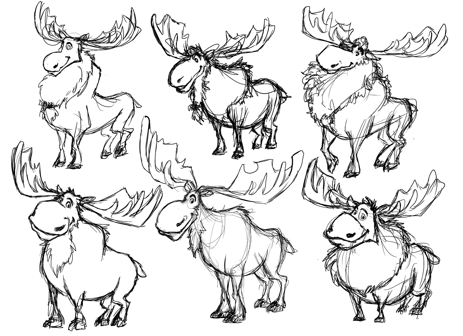 moose track coloring pages - photo#12