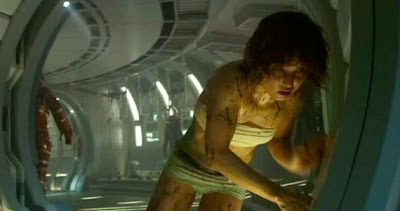 Noomi Rapace does her best with what she has to work with in PROMETHEUS.
