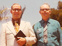 Bertrand L Comparet Pictured with Dewey H Tucker - Worlds Leading Authorities on the Bible