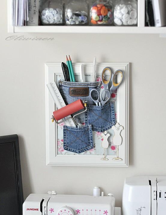 Decora tu vida diy decorar con tela tejana for Decora tu cuarto reciclando