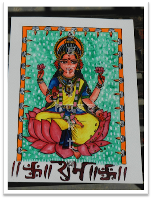 Shubh Labh, Lakshmi painting