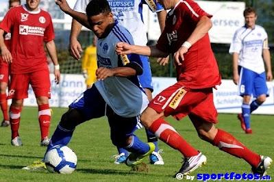 Javier Santana anota en el fútbol suizo