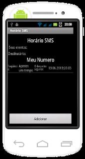 SMS agendado - Horário SMS