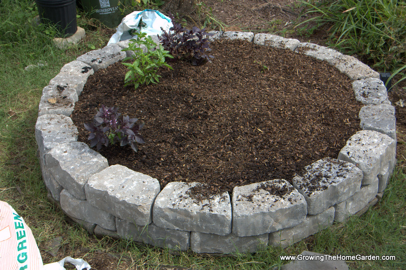 Landscaping With Stone Blocks : Building a fall garden bed from stone retaining wall