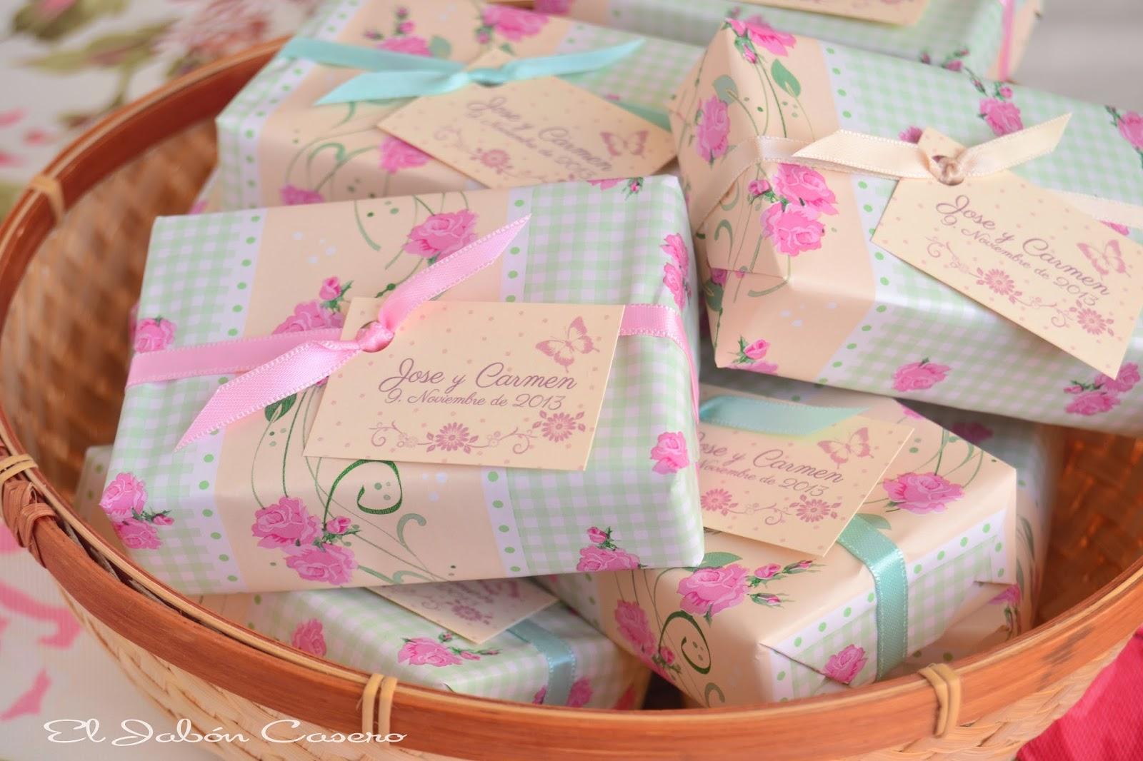 Detalles de boda romantica jabones hechos a mano