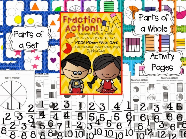 http://www.teacherspayteachers.com/Product/Fraction-Action-Mega-Match-Game-Printables-1196901