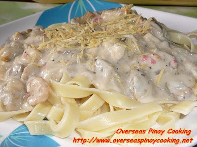Pinoy Style Seafood Carbonara