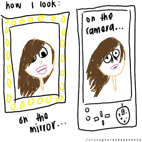 How I Look: On The Mirror Vs On The Camera