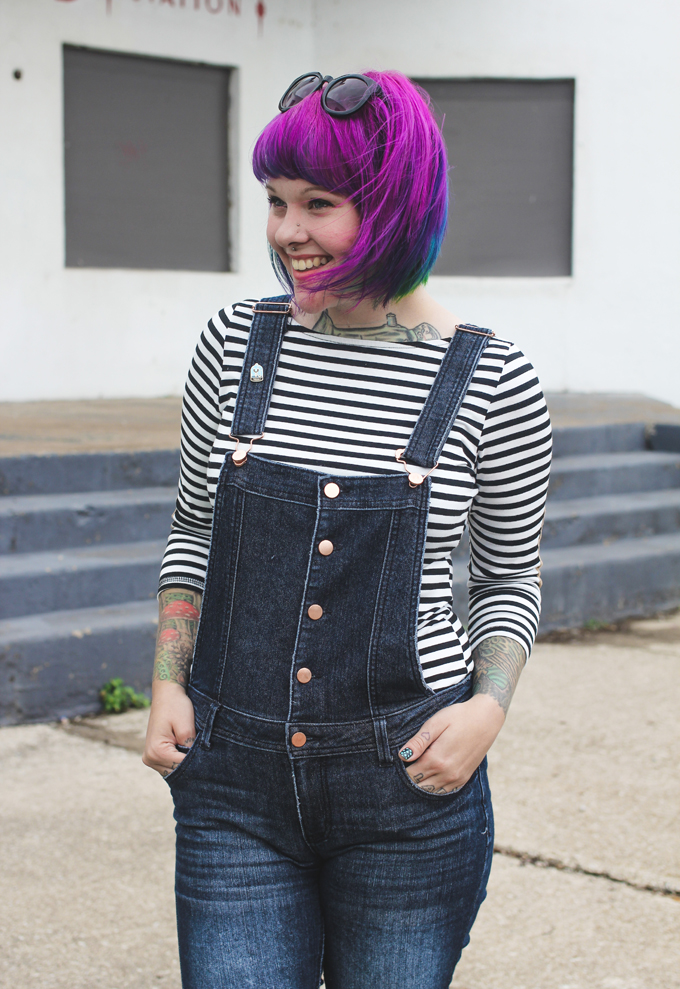 overalls, ootd, the dainty squid, kaylah doolan