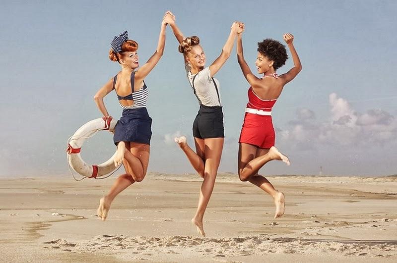 D.W.C. Pin-up Girls At The Beach - Photographer Ana Dias
