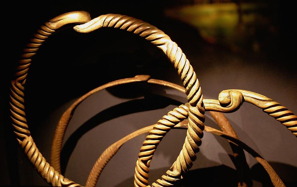 Bronze bracelets, Bronze Age, Moesgaard Museum, Aarhus.