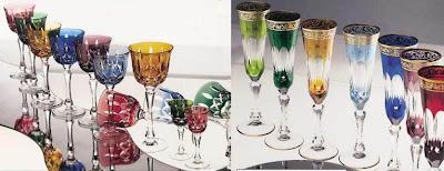 renkli+kristal+kadeh+ve+bardak+%25C3%25B6rnekleri Renkli Kristal Mutfak Bardak ve Kadeh Modelleri