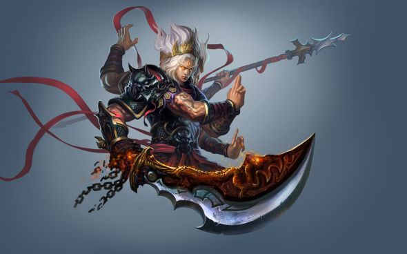 Liang Xing fantasy games illustrations Character designs