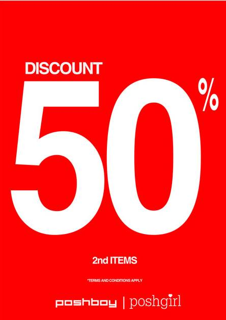 Promo Poshboy Terbaru Discount 50% Second Item