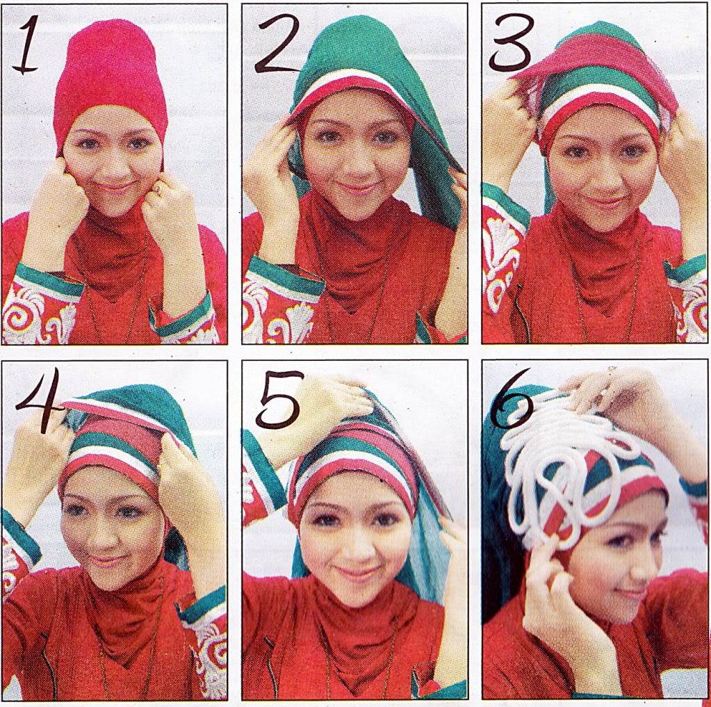 Cara Memakai Jilbab Dua Warna Untuk Pesta