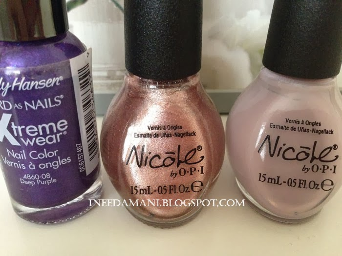 nicole opi am i making myself claire nicole opi it starts with me sally hansen deep purple