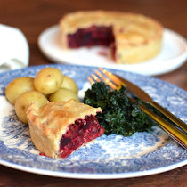 Vegan Beetroot & Lentil Pie