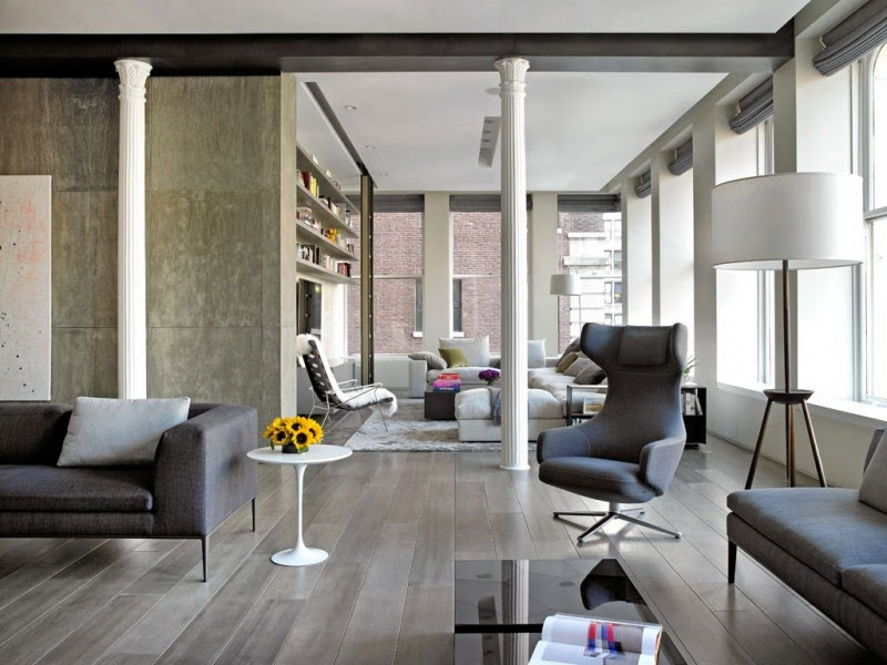 Hogares frescos elegante loft con un interior elegante y - Diseno de lofts interiores ...