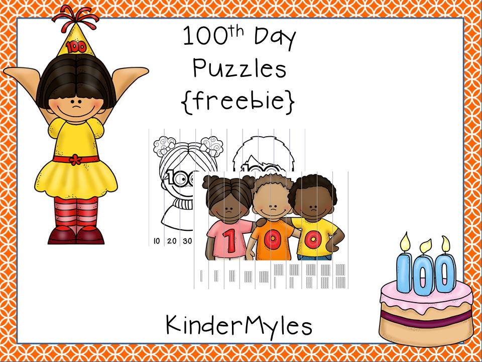 http://www.teacherspayteachers.com/Product/100th-Day-Puzzles-Freebie-1090749